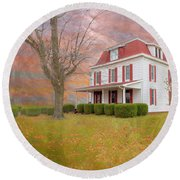 Dr Claude T. Old House Round Beach Towel