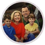 Dr. Devon Ballard And Family Round Beach Towel