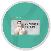 Dr. Kumar's Hair Care Clinic, Hair Transplant Services, Hair Transplant Doctors Round Beach Towel