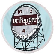 Dr Pepper Landmark Sign Roanoke Virginia Round Beach Towel