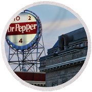 Dr Pepper Sign Round Beach Towel