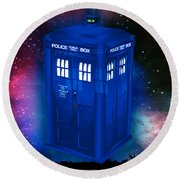 Dr Who Believing Round Beach Towel