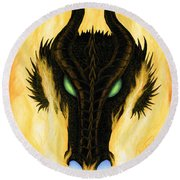 Draco Round Beach Towel