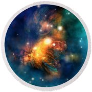Draconian Nebula Round Beach Towel by Corey Ford