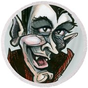 Dracula Round Beach Towel