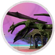Dragon Round Beach Towel by Corey Ford
