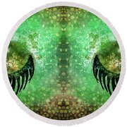 Dragon Eyes At Dawn Round Beach Towel