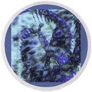 Dragon Flower Round Beach Towel