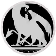 Dragon Spit Studios Logo Round Beach Towel