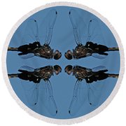 Dragonfly Composite Color Round Beach Towel