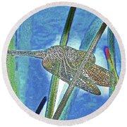 dragonfly Interior Round Beach Towel