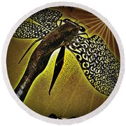 Dragonfly V Round Beach Towel