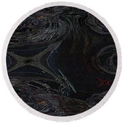 Dragonfly's Lair Round Beach Towel