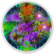 Dragons Abstract. Round Beach Towel