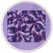 Dragons In Lavender Mosaic Round Beach Towel