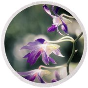 Dragons In The Orchids Round Beach Towel