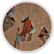 Dragons In The Railyard - Santa Fe #2 Round Beach Towel