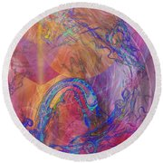 Dragon's Tale Round Beach Towel