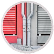Drain Pipes Round Beach Towel