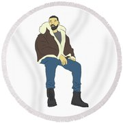 Drake Views Round Beach Towel