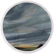 Drama In A Morning Sky Round Beach Towel