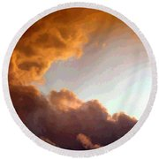 Dramatic Cloud Painting Round Beach Towel