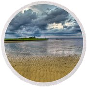 Dramatic Cloudscape Round Beach Towel