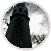 Dramatic Lighthouse Round Beach Towel