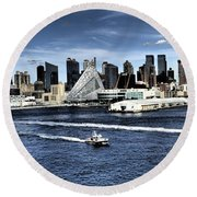 Dramatic New York City Round Beach Towel