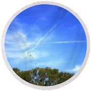 Dramatic Sky Round Beach Towel