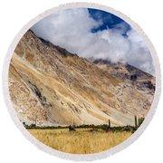 Drass Village Agriculture Kargil Ladakh Jammu And Kashmir India Round Beach Towel