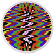 Drawing Abstract # 8455wtr Round Beach Towel