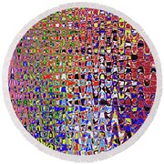 Drawing Color Abstract#5335wctw Round Beach Towel