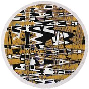 Drawing Composition Abstract Round Beach Towel