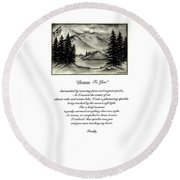 Drawn To You Round Beach Towel