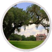 Drayton Hall Plantation Charleston Round Beach Towel