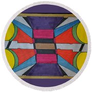 Dream 119 Round Beach Towel
