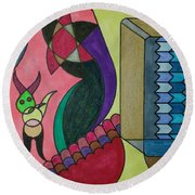 Dream 76 Round Beach Towel