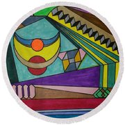 Dream 77 Round Beach Towel