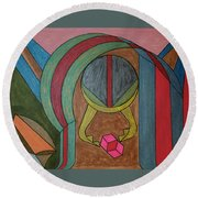 Dream 94 Round Beach Towel