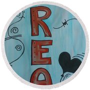 Dream Acrylic Watercolor Round Beach Towel