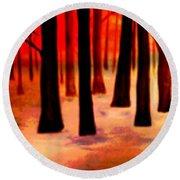 Dream  Forest Round Beach Towel