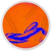 Dream In Orange Round Beach Towel