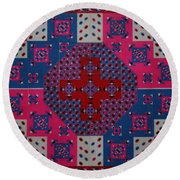 Dream Reflections 06 Round Beach Towel