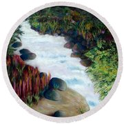 Dream River Round Beach Towel