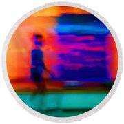 Dream Stroll Round Beach Towel