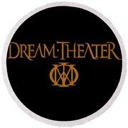 Dream Theater Logo Round Beach Towel