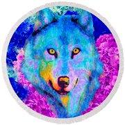 Dream Wolf Round Beach Towel