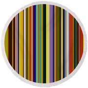 Dreamcoat Designs Round Beach Towel by Michelle Calkins