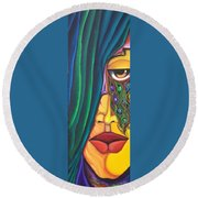 Dreamer - Scar Series 4 Round Beach Towel